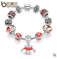 Cheap HOT Sale 925 Silver Fit Pandora Bracelet With DIY Christmas Charm High Quality Murano Bead For Women Jewelry Gift TOP1088