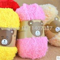 Wholesale balls pack g ball coral fleece wool yarn for crocheting