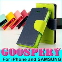 Cheap Goospery Flip Cover Imitation Leather Mercury Diary Case for iphone 6 plus 5.5 Samsung Note 5 s6 Edge Sony HTC Wallet Cases