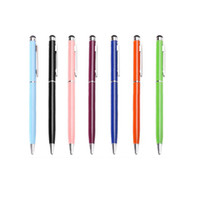 Wholesale 2015 in Muti fuction Capacitive Touch Screen Ballpoint Pen For Iphone Sumsang Ipad HTC etc all Smart CellPhone Tablet WI13