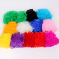 Wholesale Yards Natural Dyed Turkey Marabou Feather Trimming Fringe on for Costume Design or Dress Decoration DIY