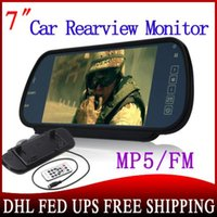 """Cheap car 20pcs Rear View Mirror Monitor 7"""" LCD Display With SD MMC Fm Mp3 Mp4 Mp5 Player Support Remote Control"""