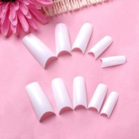 Wholesale 500 White Alse Acrylic UV Grl Half French Tips Nail Art order lt no track