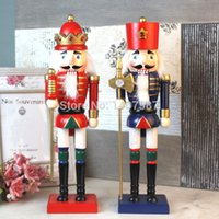 Wholesale 2PCS NEW ARRIVAL CM WOODEN CHRISTMAS NUTCRACKERS
