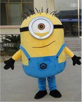 Wholesale 2016100 real images suit Despicable me minion mascot costume minion mascot EMS kevin stuart and Bob minion mascot