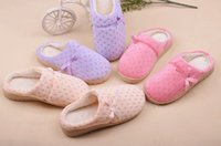 Wholesale winter cotton padded slippers indoor lovers couple winter soft floor slipper rubber outsole