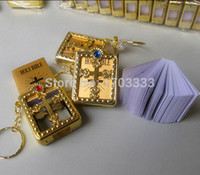 bible crafts - 228pcs English silver gold frame Christian Gospel Christmas gifts crafts bible keychain God day school supplies prizes key ring