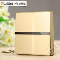 Wholesale The new wall switch champagne Light Switch open way