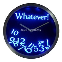 beer neon clocks - nc0464 Whatever Time Bar Beer Retire Gift Decor Neon LED Wall Clock