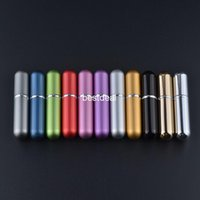 mini spray - Hot Selling ml Refillable Portable Mini perfume bottle Traveler Aluminum Spray Atomizer Empty Parfume bottles hot