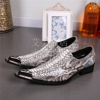 leather shoes italian men - New Men Oxfords Italian Shoes Men Leather Snake Skin Male Slip on Shoes Famous Brand Grooms Wedding Shoes Sapatos Masculino Party Shoe