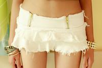 Women Skinny Zipper Fly Sexy Low Waist Girls Mini Skirts The Temptation to Buttocks Mini skirts Nightclub Sexy Clothes Free Shipping