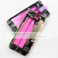 Wholesale by DHL or Ems for iPhone S Complete Housing Back Battery Door Cover Mid Frame Assembly for iphone5S back case cover