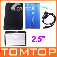 Wholesale USB quot SATA HARD DRIVE DISK HDD CASE Enclosure with Retail Package Free Drop Shipping