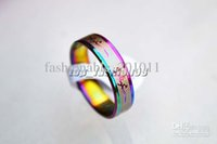 african american patterns - Stainless steel Rings Rainbow Colors Band Mixed Pattern Cute Women ring R170 Jewelry New