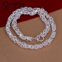 Wholesale heavy g sterling silver necklace fit men DFMN060 inches hot brand new fashion popular silver chain necklace jewelry
