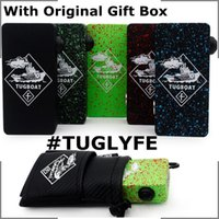 bag in box - Tuglyfe Unregulated Box Mod Tugboat Box Mod Clone Colors IN STOCK Dual Batteries With Original Gift Bag Fit RDA Vaporizer DHL Free