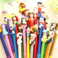 ballpoint pen kits - 10PCS Handmade Cartoon Polymer Ballpen Pen Kits Boligrafos Kawaii Articulos De Papeleria Mercurial Superfly Penna A Sfera