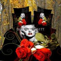 Cheap Ywxuege-marilyn Monroe(hot 3d Design) Polyester Cotton 4pcs Bedding Set,queen Size Duvet comforter Cover Sets Bedsheet
