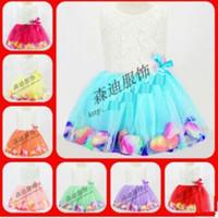 Summer baby girl vest - baby girl kids lace dress D rosette rose flower tutu dress floral tutu dress princess costumes outfits petal tulle fluffy vest dress