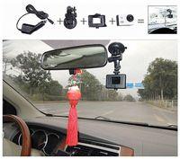 Black auto leveling system - SJ4000 Car steering wheel mount holder car mount bracket charger gps sunshade auto leveling system suporte celular carro M10718