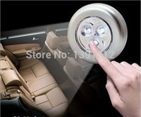 Wholesale Mini LED Cordless Stick Tap Wardrobe Touch Light Lamp Battery Powered with retail package