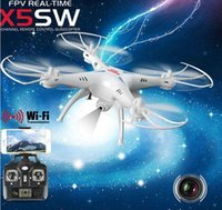 Wholesale Drones SYMA X5SW WIFI RC Drone FPV Helicopter Quadcopter with HD Camera G Axis Real Time RC Helicopter Toy