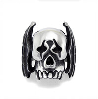bat ring jewelry - Hot Fashion Unique Skull Bat Men s Ring L Stainless Steel Ring Rock Punk Jewelry High Quality R0487