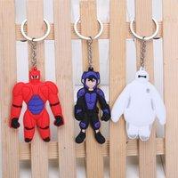 big bag pack - New Arrival packed in opp bag Cartoon Big Hero Keychain Hiro Hamada Baymax PVC Pendants dolls for children styles