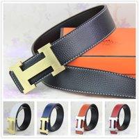 105 cm canvas belts - 2015 new hip brand buckle h designer belts for men women genuine leather gold cinto belt Men s
