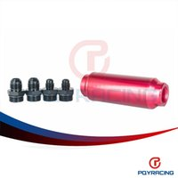Wholesale PQY STORE Universal auto Fuel filter Red with AN6 adaptor fittings AN8 adaptor fittings micron PQY5564R