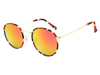 arc leg - Fashion of England Metal Frame Silica Gel Nose Pads Arc shaped Legs Round Retro Polarized Unisex Sun Glasses Elegant Eyewear