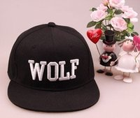 Cheap FREE SHIPPING Wholesale FASHION EXO WOLF EMBROIDERED STINGY BRIM HATS MEN WOMEN Knit Hats And Snapback Caps SPRING Winter