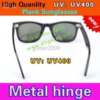 Wholesale New UV400 protection High Quality Plank black Sunglasses glass Lens black Sunglasses beach sunglasses UV protection sunglasses glitter2009
