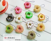 Wholesale Retail donut squishy charm mobile phone strap pendant sweet keychain fashion cute promotion gift JC25