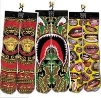 Cheap 2015 new fashion 200Pair lot Unisex 3D Printed fashion Sport Stocking Plantlife Socks Skateboard Sports Stockings Ski socks
