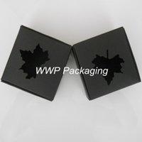 Paper apparel packaging design - Newest Design Black Kraft Paper cm Packing Box Skeleton Maple Leave Little Hangings Cardboard Package Boxes