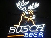 Wholesale Busch Beer Deer Real Glass Neon Sign Bar