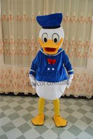 Wholesale High quality Donald Duck mascot costume Clearance adult size Various festivals Donald Duck mascot clothing fancy dress party dress factory d