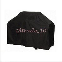 Wholesale 300pcs CCA3057 High Quality Brand Black Polyethylene Waterproof UV Protect Barbecue Cover Barbecue Grill Protector BBQ Cover