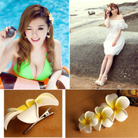 bali resorts - Plumeria hairpins hair accessories head flower Bali seaside resort bridal hair accessories tiara Beach Headwear DHL free MOQ SVS0048