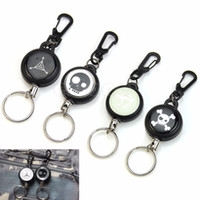 Unisex belt key chains - HOT Retractable Pull Chain Reel Card Badge Holder Recoil Belt Metal Key Chain