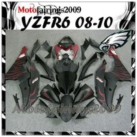 Wholesale black and red flames For yamaha YZFR6 Fairing YZF R6 YZF R6