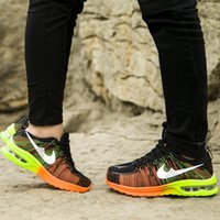 Wholesale 2015 New sports shoes men running shoes rainbow fly line mesh cushion running shoes casual couple