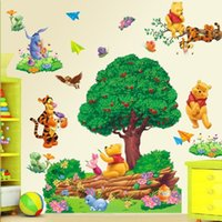 Wholesale Large Cartoon Winnie The Pooh Wall Sticker Art Vinyl Decals Kids Nursery Home Decor pf