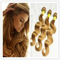 Wholesale Grade A Honey Blonde Body Wave Brazilian Virgin Remy human Hair Weave Wavy Extension Bundles no tangle