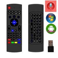 X8 Mini Teclado Inalámbrico con Ratón Remoto G de Detección de Giroscopio, Sensores de MICRÓFONO Combinado MX3-M Para el MX3 MXQ M8S M95 S905 de Engranajes CAJA de TV Android