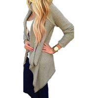 american standard pipe - New Arrival Autumn Winter Women Blusas Casual Loose Knit Waterfall Cardigan Jacket Long Sleeve Irregular Sweater Coat