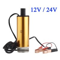 Wholesale Aluminum Golden DC V V Diesel Water Oil Fuel Transfer Refueling Pump Car Camping Fishing Diving Submersible Oil Pumps order lt no trac