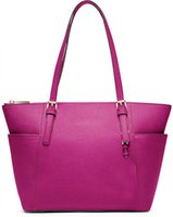 Wholesale 9 color women handbag cm Jet Set Top Zip Leather Tote casual women Michaeleding bags famous brands ladies shoulder handbag
